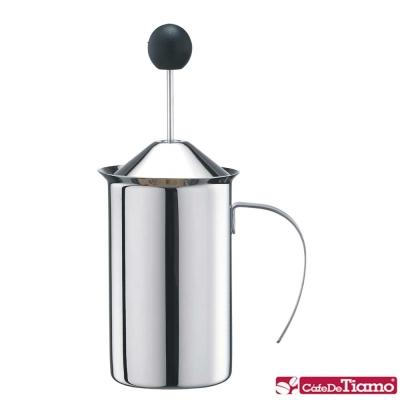 Tiamo 8006不鏽鋼雙層彈簧奶泡杯300cc(HA2235)