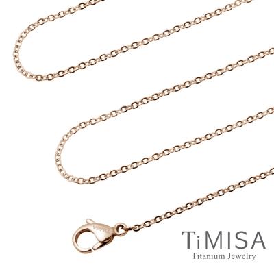 TiMISA 璀璨十字 極細 純鈦項鍊C(雙色可選)