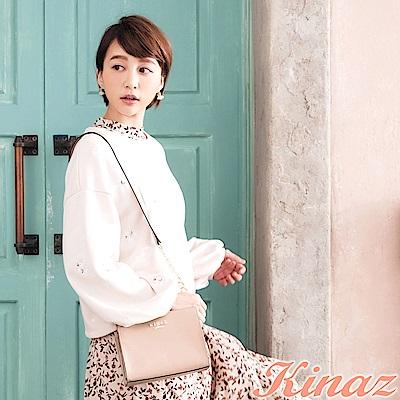 KINAZ 玫瑰花園鏈帶斜背包-紗裙粉-浪漫舞曲系列-快