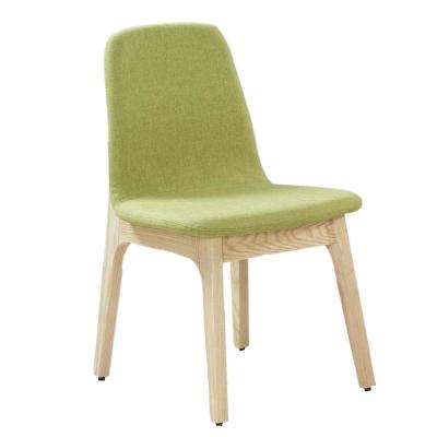 AT HOME-葛麗絲栓木綠色布餐椅