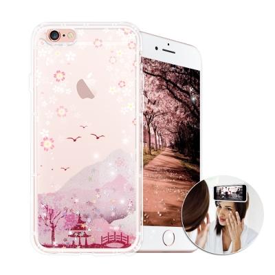EVO反重力 iPhone 6s PLUS 亮粉空壓手機殼(浪漫櫻花)