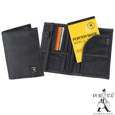 PORTER-環遊世界旅行護照夾-附筆記本-帆布黑