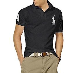 Polo Rlaph Lauren 經典大馬刺繡短袖Polo衫-黑色