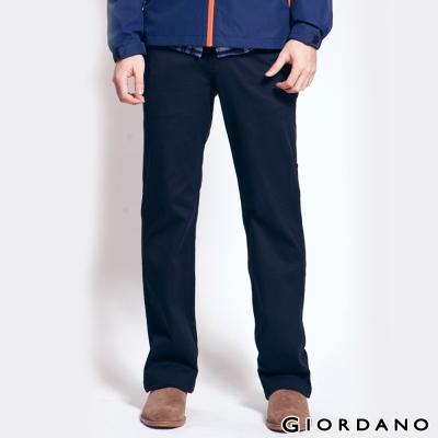 GIORDANO-男裝中腰標準直筒彈性休閒褲-09