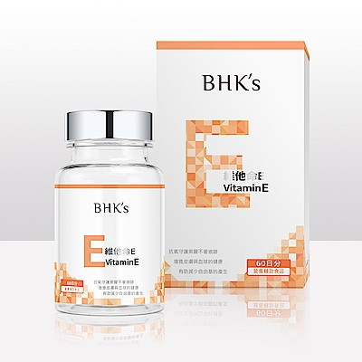 BHK's 維他命E 軟膠囊 (60粒/瓶)