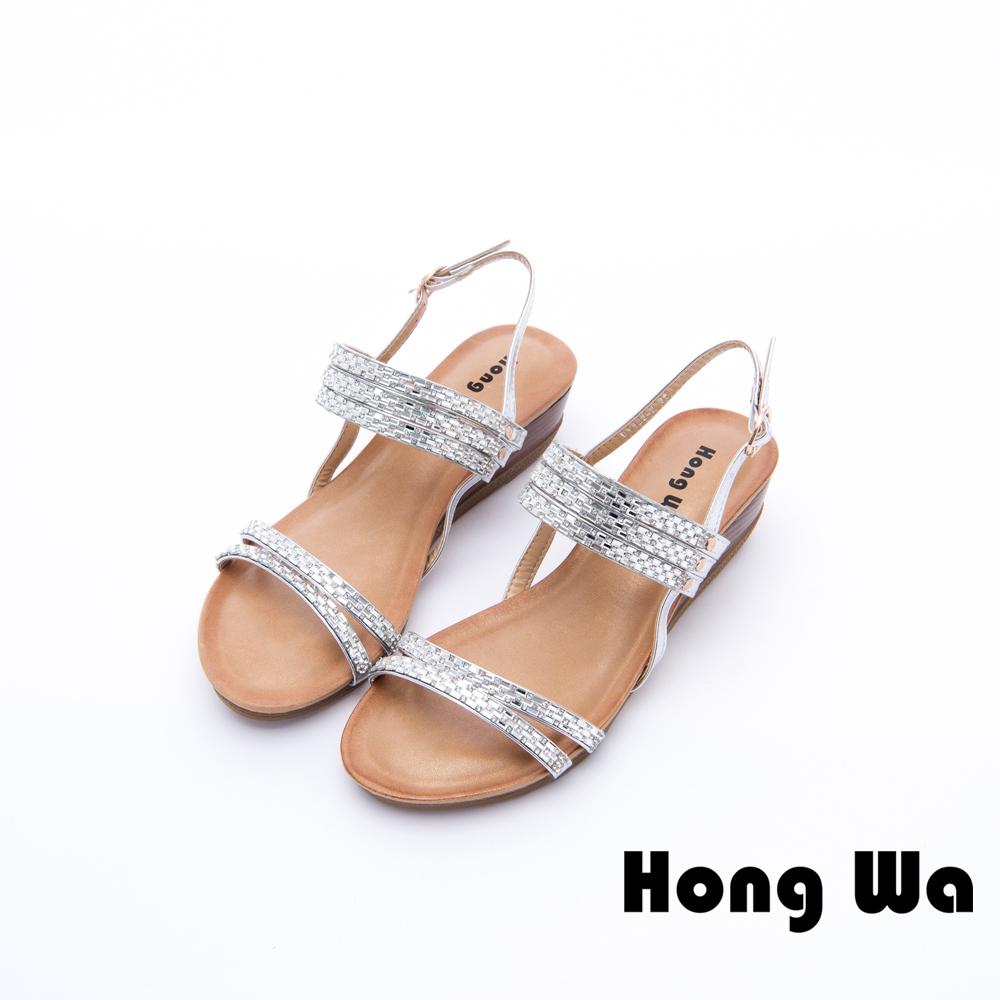 Hong Wa - 海洋悠閒金屬造型休閒涼鞋 - 銀