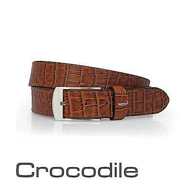 Crocodile 經典鱷魚壓紋休閒皮帶 0102-20182