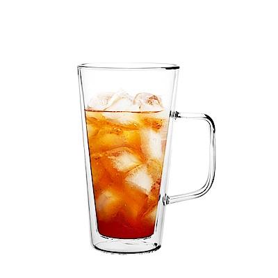 FUSHIMA富島 雙層耐熱玻璃杯500ML(把手)
