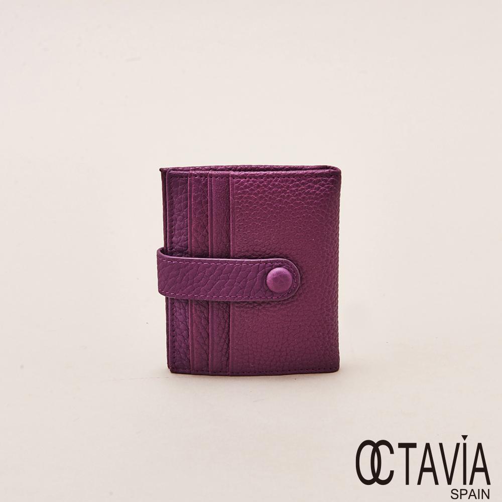 OCTAVIA天使的翅膀極薄式二折式卡片小短夾暗紫