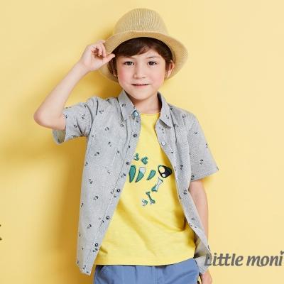 Little moni  涼夏渡假開襟襯衫 黑色