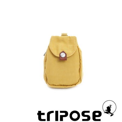 tripose  漫遊系列迷彩印花鑰匙零錢包 - 黃