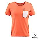 Haglofs 女 Wend 口袋T恤 珊瑚粉紅色