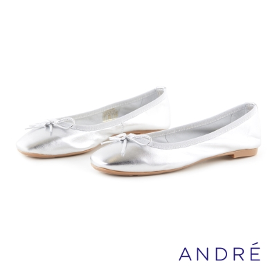 ANDRE-優雅芭蕾舞平底鞋-細緻銀