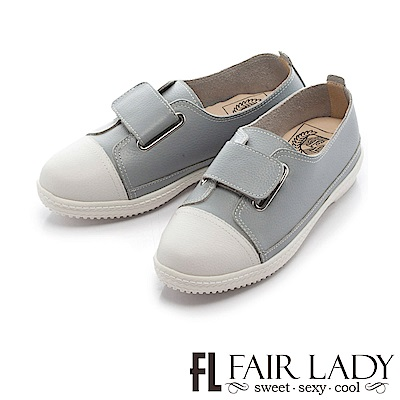 Fair Lady Soft Power軟實力 魔鬼氈厚底休閒鞋 藍