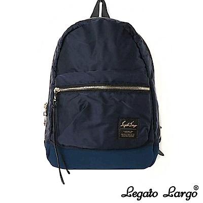 Legato Largo 高密度尼龍質感後背包 深藍