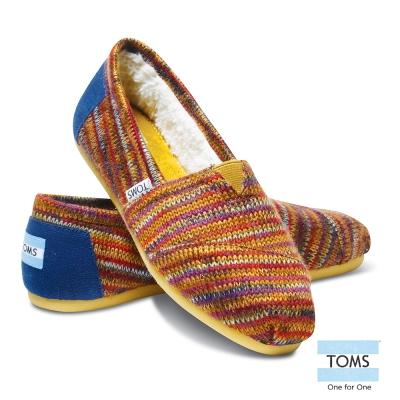 TOMS 經典針織懶人鞋-女款(深褐)