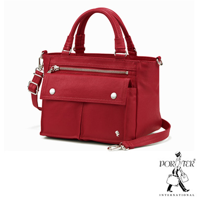 PORTER-輕甜繽紛SPIRIT小型兩用復古手提包-紅