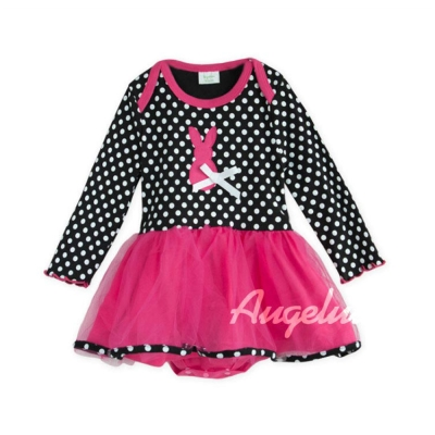 baby童衣點點兔兔子造型長袖紗紗裙包屁衣37223