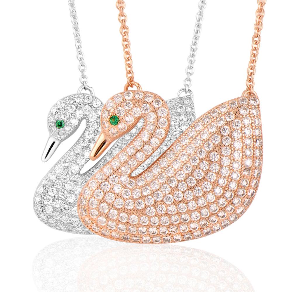 微醺禮物 施華洛Stullex星眸水鑽 滿鑽天鵝 項鍊 兩色