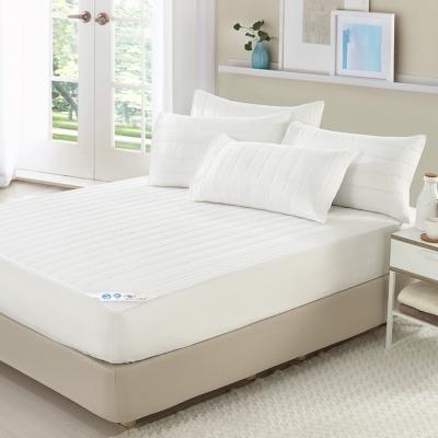 歐風純白單人床包式保潔墊