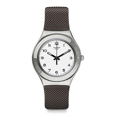 Swatch 就是SWATCH GRISOU 淺灰當代手錶