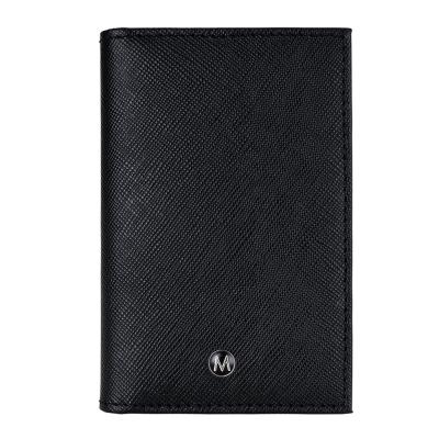MONDAINE瑞士國鐵 黑標系列 牛皮十字紋 豪華型名片夾/卡片夾