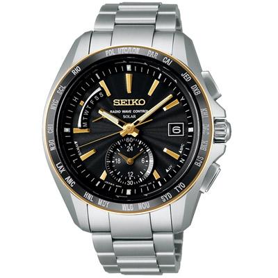 SEIKO BRIGHTZ 太陽能【鈦】世界4局電波腕錶(SAGA160J)-黑/43mm