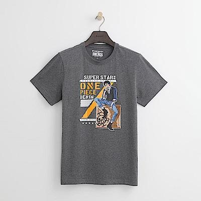 Hang Ten - 男裝 - ONE PIECE巨星寫真T恤-灰色