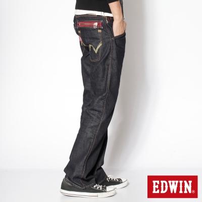 EDWIN503 大尺碼B.T印地安金蔥中直筒牛仔褲-男款-原藍色
