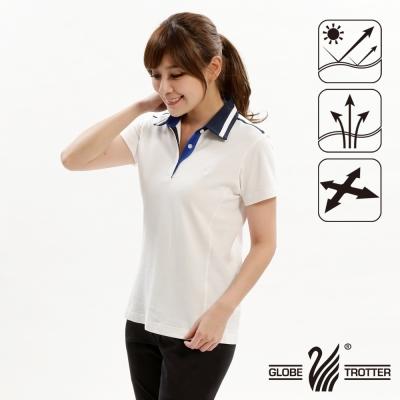 【遊遍天下】女款抗UV吸濕排汗機能POLO衫GS10012白色