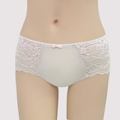 曼黛瑪璉 包覆提托雙弧  低腰平口萊克內褲(輕透棕)