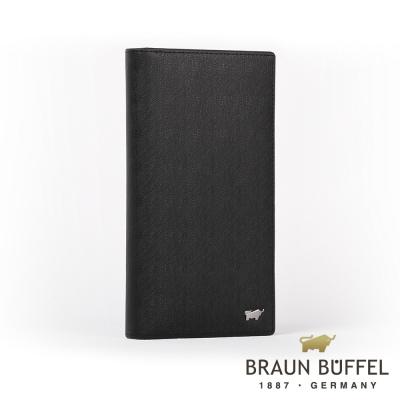 BRAUN BUFFEL - HOMME-M紳士系列極光紋17卡零錢長夾 - 黯黑