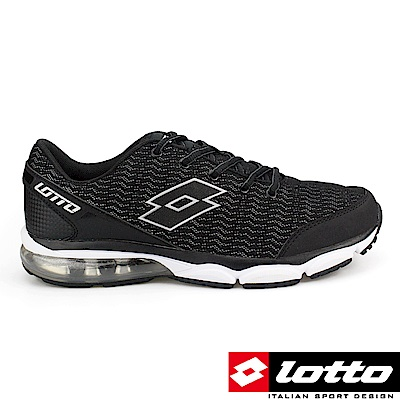 LOTTO 義大利 男 FLASH 光動氣墊跑鞋(黑)