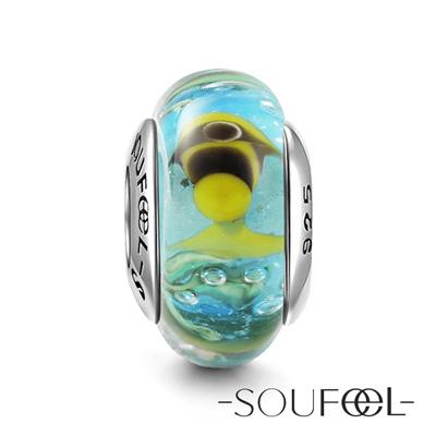 SOUFEEL索菲爾 925純銀珠飾 熱帶魚 琉璃珠