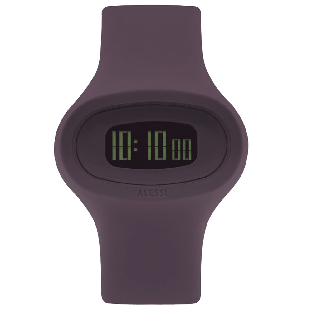 ALESSI 清晰潮流電子腕錶-深紫/43mm