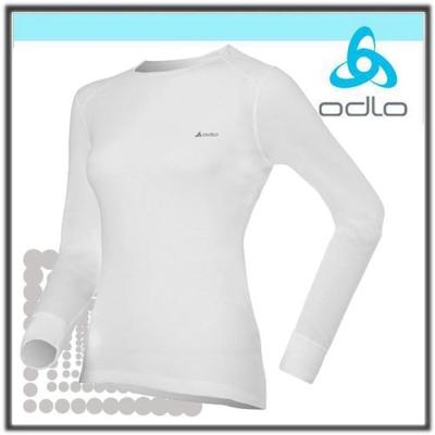 【瑞士 ODLO】warm effect 女機能型銀離子圓領保暖上衣.衛生衣/白