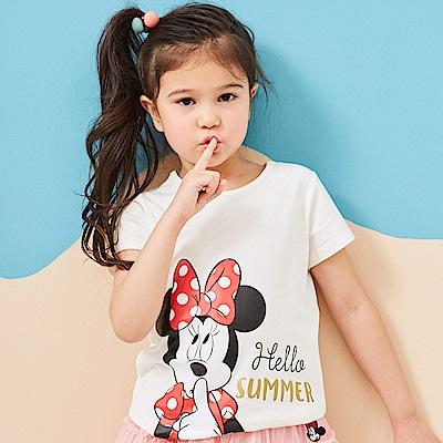 Disney 米妮系列歡樂夏日圓領上衣 (2色可選)