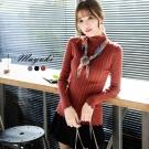 東京著衣 花邊直條羅紋針織上衣-S.M(共二色)