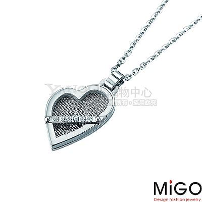 MiGO-擁抱 白鋼女項鍊