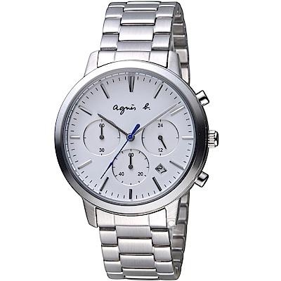 agnes b.非凡焦點計時腕錶(VD53-KJC0S BT3035X1)