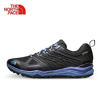 The North Face北面女款藍色緩衝穩定徒步鞋