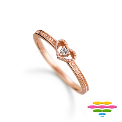 彩糖鑽工坊 14K 愛心鑽石戒指 小確幸系列