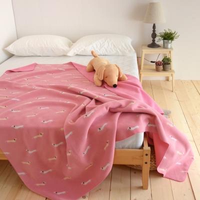 絲薇諾 粉紅色帕比狗狗-雙面雲毯/毛毯-180×210cm