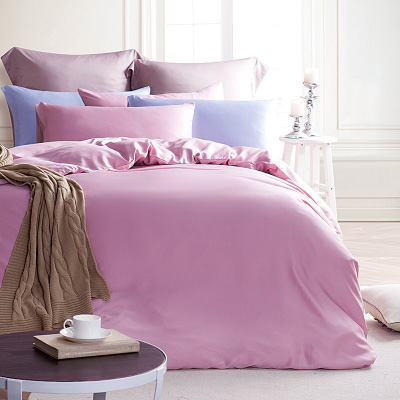 Saint Rose 玫粉玉 加大高密度高質感300織純天絲兩用被套床包四件組
