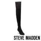 STEVE MADDEN-LOYAL-C-BLACK 過膝長筒水晶跟套靴-黑色