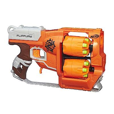 孩之寶Hasbro NERF系列 兒童射擊玩具 打擊者系列 雙重輪轉手槍 B0562