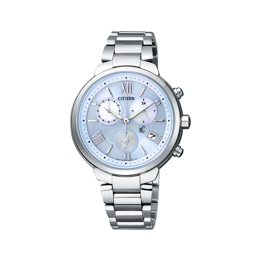 CITIZEN XC 浪漫城市鈦金屬光動能計時腕錶(FB1330-55L)-藍/35mm @ Y!購物
