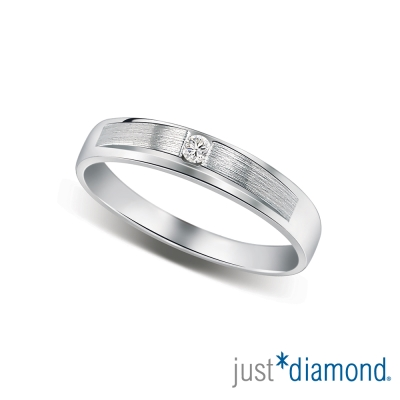 Just Diamond無盡的愛系列18K金對戒-情定永恆-女戒