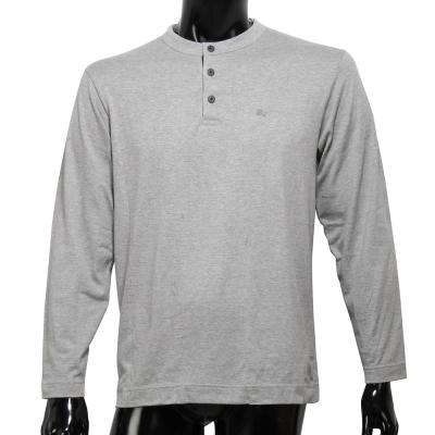 BURBERRY 戰馬LOGO透氣排汗棉質上衣-灰色