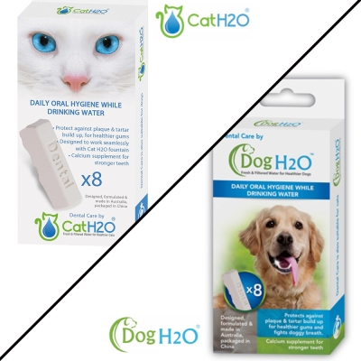 DOG&CAT H2O 有氧濾水機專用 潔牙錠 2L/6L 8入裝x4盒